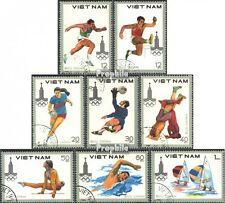 Vietnam 1093-1100 (kompl.Ausg.) gestempelt 1980 Olymp. Sommerspiele, Moskau EUR