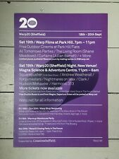 Warp20 A3 Limited Edition Poster (Warp Records) RARE COLLECTABLE - FREE POSTAGE