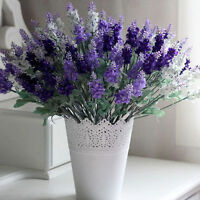 10 Heads Silk Artifical Lavender Flowers Fabric Bouquet Wedding Home Decor Gift