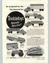 1955 PAPER AD Tootsietoy Greyhound Bus Tractor Tanker Truck Revell Cadillac