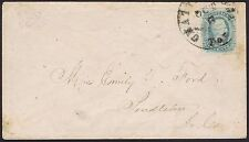 Confederate : 1863 Chattanooga Tennessee #11 10c Davis fine used to Pendleton.
