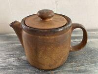 McCoy Pottery Canyon Mesa Stoneware Coffee Teapot Brown #1418