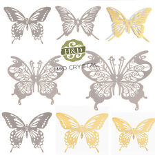 Set 8 Feng Shui Sticker Suncatcher Metal Hanging Window Butterfly Wedding Decor