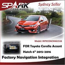 "SP FACTORY NAVIGATION GPS INTEGRATION FOR TOYOTA COROLLA ASCENT HATCH 6"" 2015-16"