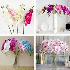 Phalaenopsis Fleur Artificielle Bouquet Plastique Soie Mariage Maison Décor