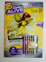 Crayola Color Alive Action Coloring Pages Enchanted Forest Toy Gift Party