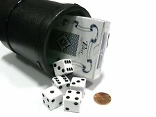 Dice Cup with Twist off Cover, Dice & Cards