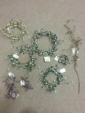 Assorted Lot Of Crystal Berry Candle Rings blue - green - purple store display