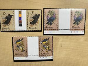 Barbados Bird Stamps MNH 1982