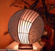 """Tischleuchte Tischlampe """"AMINA""""  weiß  rund   Asia Design Bali Lampe Dekoobjekt"""