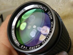 Rokinon 80 -200mm f 4.5 Lens olympus om fit quality lens optics great fwo