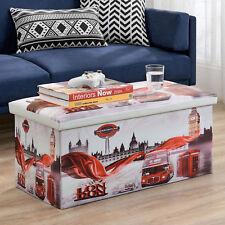 """en.casa® Tabouret """"London"""" 76x38x38cm banc rangement coffre tabouret"""