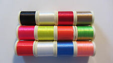 12 Spools Danville 210 Denier Flat Waxed Fly Tying Thread - New Stock  Saltwater