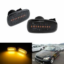 2x For Lexus Is300 2000 2005 Canbus Led Side Marker Bumper Light Lamp Clear Lens