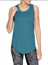 NEW GAP FIT Women GREEN Racerback Muscle Shirt Ribbed Tank Shirt Top LARGE LG L