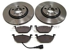 VW BEETLE 1.4 1.6 2.0 2003-2009 FRONT VENTED BRAKE DISCS AND MINTEX PADS NEW