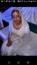 Size 10 Asian Bridal Wedding Dress,white,Indo/Western fusion design,registry,bri