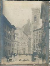 Italie, Florence, Cathédrale di Santa Maria del Fiore, ca.1910, vintage silver p