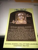 Goose Gossage New York Yankees Signed Hall of Fame Postcard COA