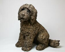 Cockapoo sitting  - Lucy -  Bronze  - Boxed New