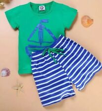 baby boy short set New Size 4 Nautical Green/blue Fun Wear
