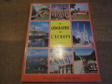 Album chromos édité par timbre tintin complet la géographie de l'europe tome1
