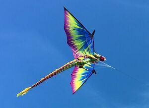 Large WindNSun 3-D Dragon Kite - Big 195cm Wingspan - 3D Quality Ripstop Fabric