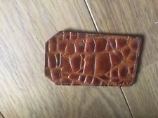 Vintage Alligator leather Luggage Bag ID  Tag