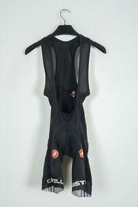 Castelli Italy Cycling Bib Shorts Black Bicycle Apparel Size S