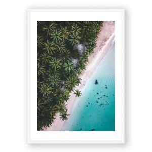 Sri Lanka Print , Palm Tree Wall Art , Tropical Beach Art , Framed Print , Photo