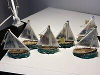 Thomas Kinkade Christmas Ornaments Sailboat Lighthouse Collection Exclusive