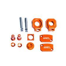 FITS: KTM 200 250 EXC XC XC-W TUSK BILLET BLING KIT Brake Oil Cap Axle Blocks