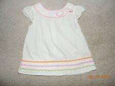 Gymboree Baby Girl White Swing Top Cap Sleeves sz 18-24Mo~Euc