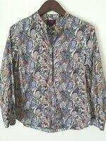 J Crew Liberty London Art Fabrics Blouse Shirt Top Paisley Print Popover sz 4