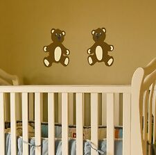 Teddy Bear Wall Decal set removable stickers nursery decor kids children room