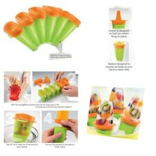 Tupperware Lollitups Ice Blocks Icy Pole Makers Moulds set of 6 Orange Green