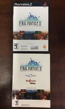 FINAL FANTASY XI PLAY ONLINE NOT FOR RESALE VERSION PlayStation 2 (2004,2 Disks)