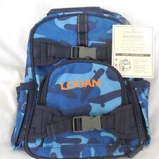 """Pottery Barn Kid Mackenzie Blue Camo Mini Backpack """"Logan"""" NWT NLA"""