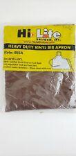 Vinyl Apron Heavy Duty Dishwasher Butcher Craft Restaurant Bib Brown