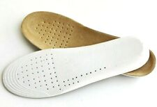 Women Height Increase Insoles Absorbent Ultra Thin Lambskin Leather  Breathable