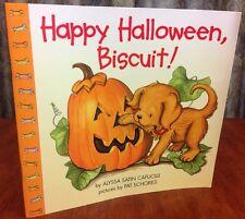 Happy Halloween Biscuit Alyssa Satin Capucilli 1999 Paperback Book Dog Pumpkin