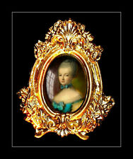 LOVELY ORNATE PICTURE PORTRAIT  FOR DOLLS HOUSE / ROOM BOX - by SYLVIA ROSE.