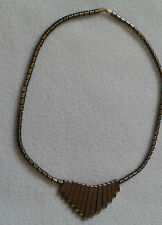 """ATTRACTIVE GREY PEWTER COLOURED NECKLACE 17"""" LONG NEW"""