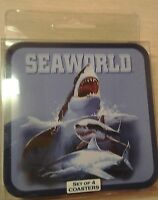 Seaworld Souvenir Set of 4 Shamu Orca Whale Coasters New in Package