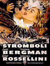 Movie film stromboli bergman rossellini volcan catastrophe posterprint BB6714B