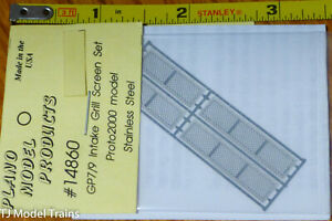 Plano HO #14860 GP7/9 Intake Grill Screen Set Proto2000 model Stainless Steel