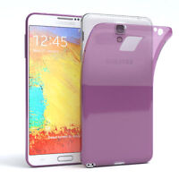 Ultra Slim Cover für Galaxy Note 3 Neo Case Silikon Hülle Transparent Lila
