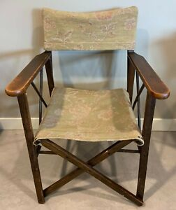 Vintage Directors Chair Folding Wood and Fabric