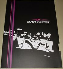 Le Mans 2012-FIA WEC-OAK Racing Press Kit Support Dossier de presse pressmappe