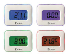 Alarm Clock LCD Large Display Sensor Touch Temperature  Multi Colour Backlight